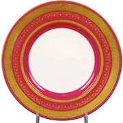 12 Minton for Tiffany Small Magenta Plates