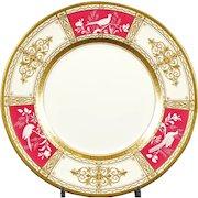 13 Minton Pate-sur-Pate Service Plates, artist signed