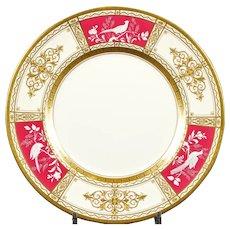 13 Minton Pate-sur-Pate Service Plates, artist signed W Key