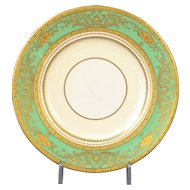 12 Minton for Tiffany Gilded Small Green Plates