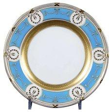 6 Minton Turquoise-Blue Salad Plates
