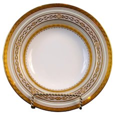8 Vintage Minton Art Deco Style Gilded Soup Bowls, England