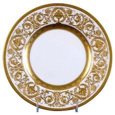 12 Minton Heavily-Gilded Service Plates