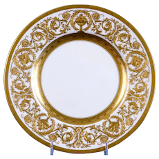 12 Minton Heavily-Gilded Service Plates