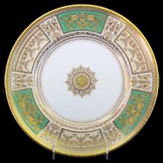 12 Minton Master Gilder Green Plates