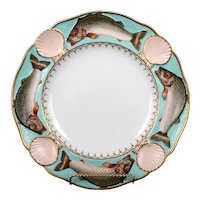 19th Century Minton Majolica Fish and Scallop Plate