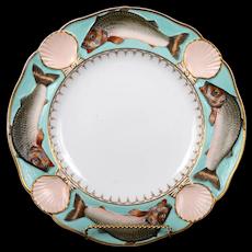 19th Century Minton Majolica Fish and Scallop Plate