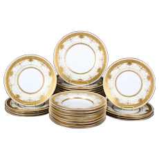 Service for 8 of Antique Minton for Tiffany Medallion Plates