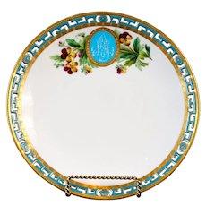 11 Antique Minton Pate-Sur-Pate Hand-Painted Floral Plates