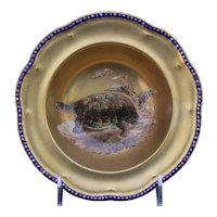 12 Cauldon, England Hand-Painted Gilt Turtle Soup Bowls