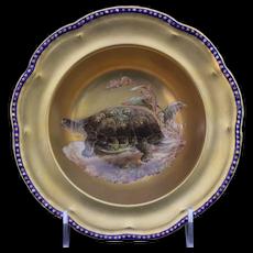 12 Cauldon, England Hand-Painted Gilt Turtle Soup Bowls