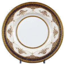 12 Minton Cobalt and Gold Plates