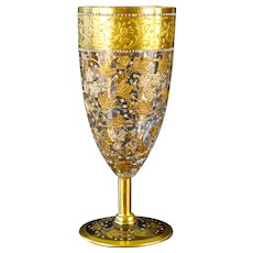 Moser Art Glass Goblet
