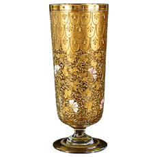 Moser Beautifully Gilded Footed Glass