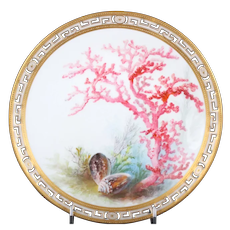13 Minton Tropical Aquatic Cabinet Plates by Artist William Mussill