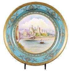 Vintage Pair of Large Minton Display Plates, Artist Signed