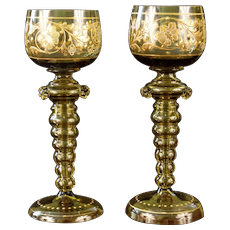 Pair Moser Goblets