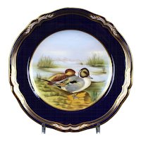 Pair of Vintage Spode Hand-Painted Game Plates