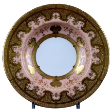 Pair of Antique Coalport Gilded Pink Bowls