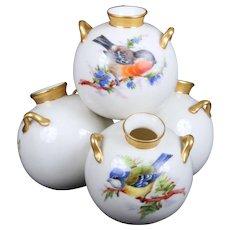 Royal Worcester 4-Well Ornithological Vase
