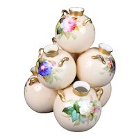 Royal Worcester 7-Well Hand-Painted Floral Vase