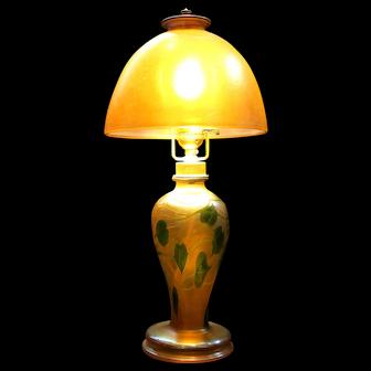 "Tiffany ""Leaf and Vine"" Lamp"