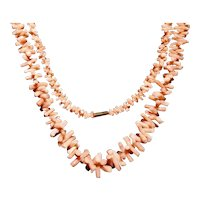 More Then 50% Off Salmon Branch Coral Necklace