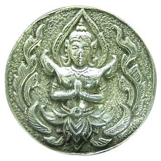Sterling Silver Siam Buddha Buddhist Image in Namaste Postion Earrings
