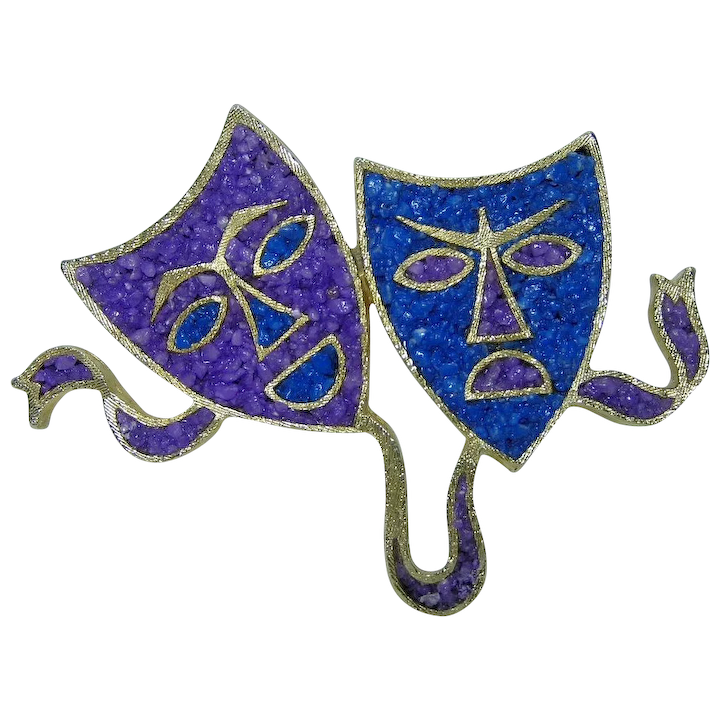 Tortolani Theater Drama Comedy And Tragedy Masks W Purple Blue Inlay Foreeffect Ruby Lane Download 3,930 drama masks free vectors. tortolani theater drama comedy and tragedy masks w purple blue inlay brooch