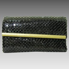 25% Off Sale! Whiting and Davis Black Enamel Mesh Key Case