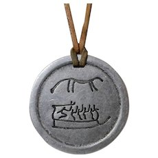 Norway 3000 Year Old Replica Rock Carving Petroglyph Pendant