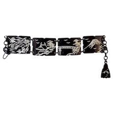 Big Sale! Japan Scenes Celluloid Link Bracelet