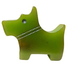 Bakelite Green Scottie Pencil Sharpener