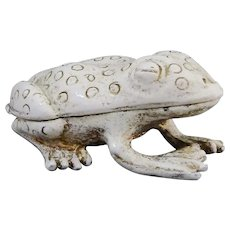 Florenza Spotted Tree Frog Enamel Trinket Box