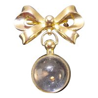Coro Mustard Seed Ball Pendant on Bow Brooch
