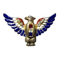 Sterling Craft by Coro Patriotic American Bald Eagle Pin