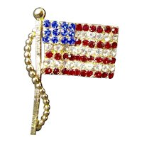 Dodds American Stars and Stripes Rhinestone Flag