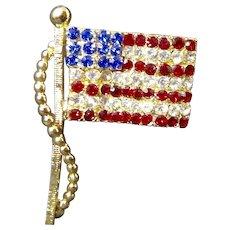 Dodds American Stars and Stripes Rhinestone Flag