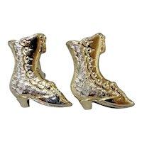 Ladies Victorian Button Boots with Tassel Cufflinks