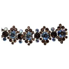 D&E Juliana Rich Winter Colors Rhinestone Bracelet