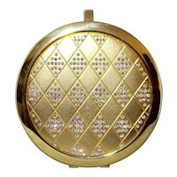 Sparkly Elegant Rhinestones in Diamond Shapes Double Mirror Compact