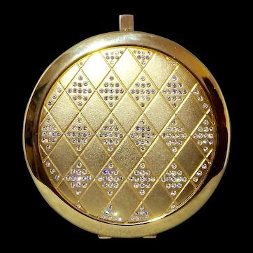 Sparkly Elegant Rhinestones in Diamond Shapes Double Mirror Compact