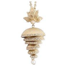 Graduated Nesting Chandelier Rhinestone Imitation Pearl Pendant