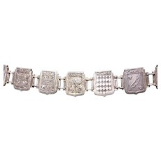 France Heraldry Coats-of-Arms of Towns Charm Bracelet