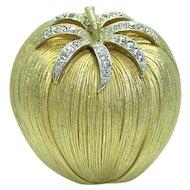 45% Off Corocraft Tomato Rhinestone Brooch