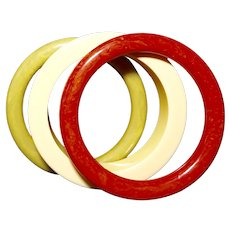 Bakelite Summer Colors Three Bracelet Set