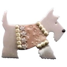 Artisan Scotty Scottish Terrier Brooch