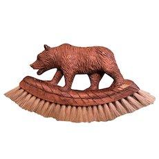 Antique Black Forest Adirondack Miniature Bear Brush Glass Eyes