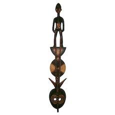 "Exceptional Vintage 42.5"" Mossi Karan Wemba African Tribal Mask Yatenga, Burkina Faso - Carving / Sculpture"