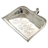 Christofle Silver Plated Crumb Scoop Scraper, France, Circa 1900.
